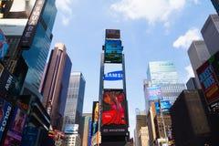 Tijd Vierkant New York Stock Afbeelding
