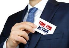 Tijd voor actie Stock Fotografie
