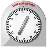 Tijd voor actie vector illustratie