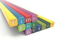Tijd voor actie royalty-vrije illustratie