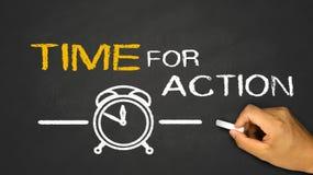Tijd voor actie Stock Afbeeldingen