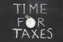 Tijd voor belastingen stock fotografie