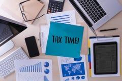 Tijd voor Belastingen de Financiële Boekhoudingsbelastingheffing Busi van het Planningsgeld royalty-vrije stock fotografie