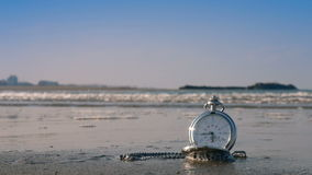 Tijd voor de achtergrond van het vakantieconcept stock footage