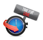 Tijd voor de illustratieontwerp van het liefdeconcept Stock Foto's