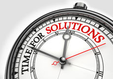 Tijd voor de klok van het oplossingenconcept Royalty-vrije Stock Fotografie
