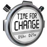 Tijd voor de Tijdopnemerklok van de Veranderingschronometer royalty-vrije illustratie