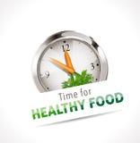 Tijd voor gezond voedselteken vector illustratie