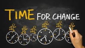 Tijd voor het concept van de Verandering Stock Afbeeldingen