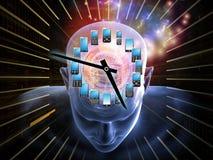 Tijd voor het Mobiele Denken royalty-vrije illustratie