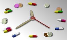 Tijd voor medicijn royalty-vrije illustratie