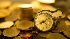 Tijd voor succes van financiënzaken Investering, bedrijfs financieel ideeënconcept De beheersefficiency, tijd is geld stock footage