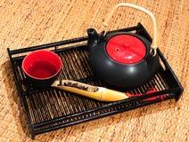 Tijd voor thee stock afbeeldingen