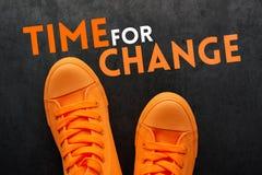 Tijd voor verandering stock foto