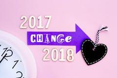 Tijd voor Verandering - 2017 tot 2018 Stock Foto