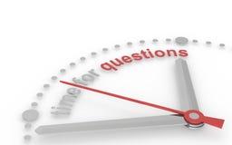Tijd voor Vragen Stock Foto's