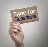Tijd voor Vragen Stock Afbeelding