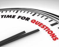 Tijd voor Vragen - Klok Royalty-vrije Stock Foto's