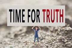 Tijd voor waarheid Stock Afbeeldingen