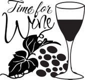 Tijd voor Wijn Stock Illustratie