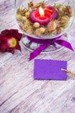 Tijd weg, coupon, natuurlijke schoonheidsmiddelen royalty-vrije stock foto