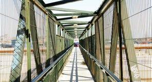 Tijdelijke brug in de werkzaamheden van het AVE van de Hoge snelheidstrein stock foto