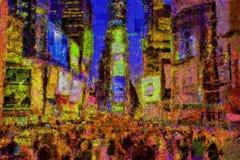 Tijden vierkant New York royalty-vrije illustratie