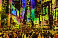 Tijden vierkant New York stock illustratie