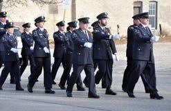 Tijdens de parade Stock Fotografie