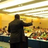 Tijdens de presentatie Royalty-vrije Stock Foto