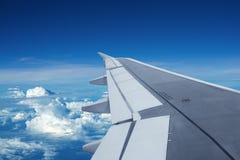 Tijdens de vlucht Stock Afbeeldingen