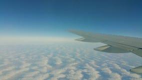 Tijdens de vlucht stock afbeelding