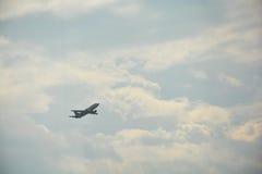 Tijdens de vlucht Stock Foto