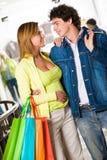 Tijdens het winkelen stock fotografie
