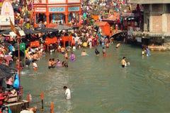 Tijdens vieringen Makar Sankranti Royalty-vrije Stock Foto's