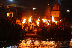 Tijdens vieringen Makar Sankranti Stock Foto's