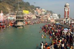 Tijdens vieringen Makar Sankranti festival Royalty-vrije Stock Foto's