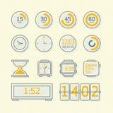Tijdpictogrammen Stock Afbeelding