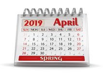 Tijdschema - April 2019 stock illustratie