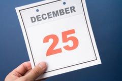 Tijdschema Dag Kerstmis Royalty-vrije Stock Foto's