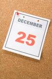 Tijdschema Dag Kerstmis Royalty-vrije Stock Foto