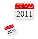 Tijdschema het jaar van 2011 en van 2010 Stock Foto