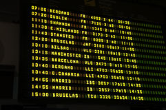 Tijdschema in internationale Luchthaven Royalty-vrije Stock Afbeelding