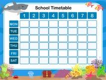 Tijdschema voor school royalty-vrije illustratie