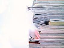 Tijdschrift Gestapeld Half Frame Stock Foto's