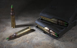 Tijdschriften en munitie Stock Foto's