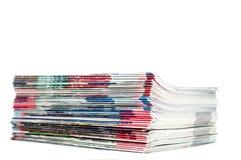 Tijdschriftenstapel Stock Foto's