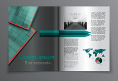 Tijdschriftlay-out Vector Stock Fotografie