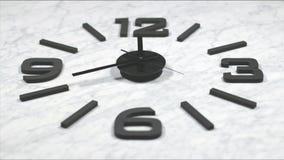 Tijdspanne die van de klok de Snelle Tijd zich vooruit bewegen stock videobeelden