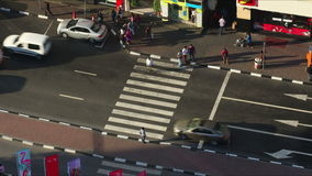 Tijdspanne van de het kruispunt4k tijd van het Deira de hoge verkeer stock footage